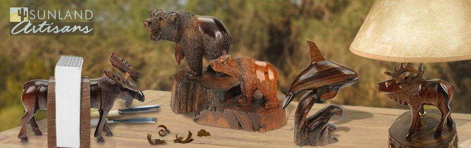 North American Hand Carved Ironwood Art
