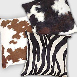 Cowhide Throw Pillows