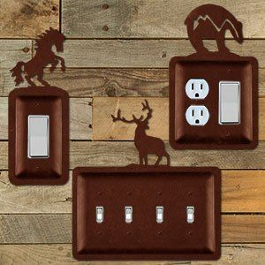 Rustic Metal Switch Plates