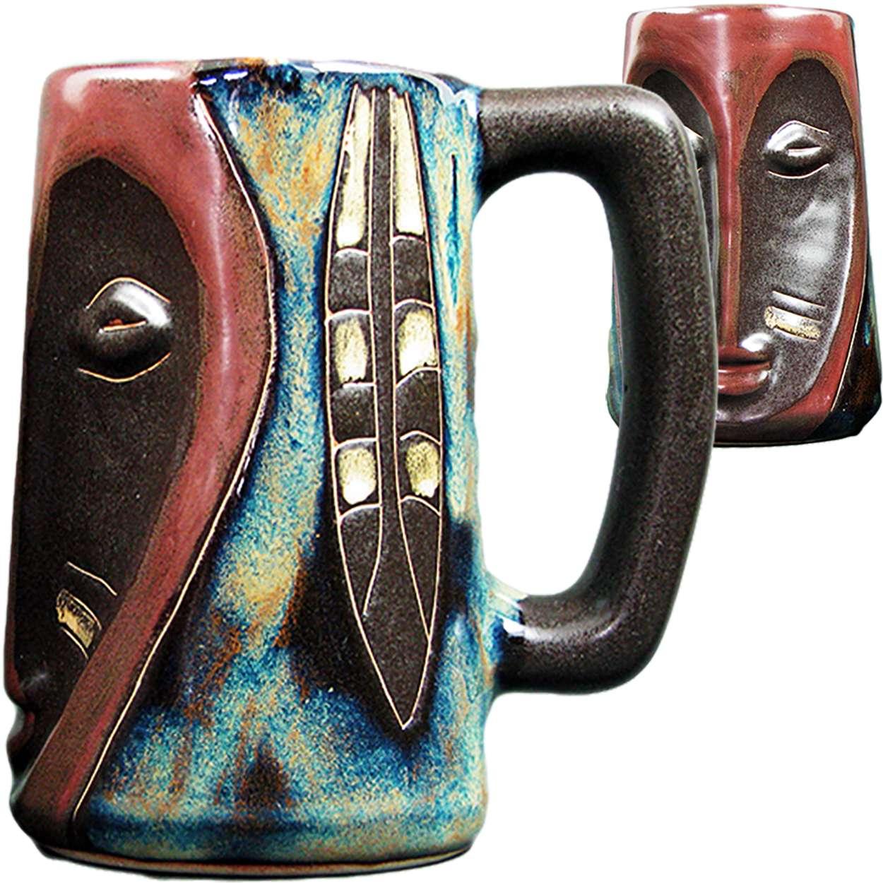 Set of 2 Mountain Stein Mara Ceramic Stoneware 16 Oz