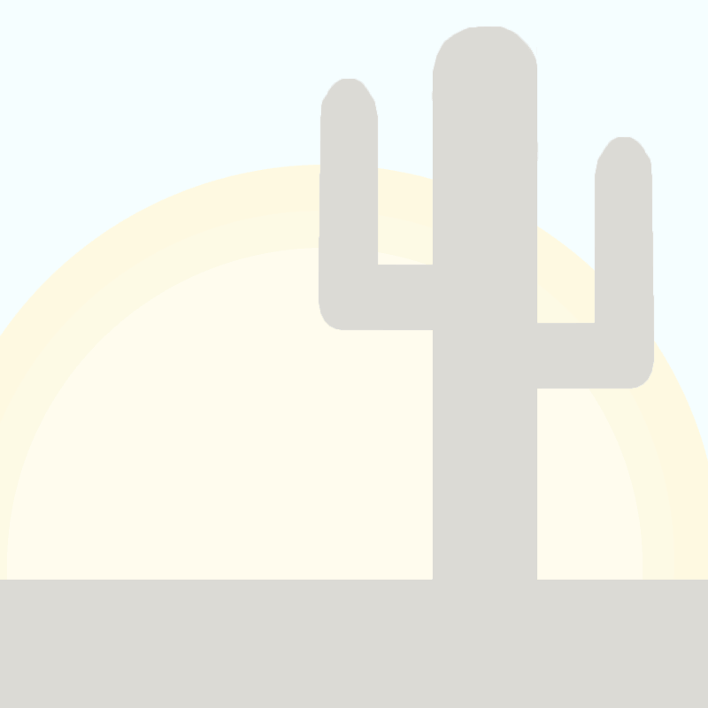 4in Mexican Clay Accent Tile - Desert Scene