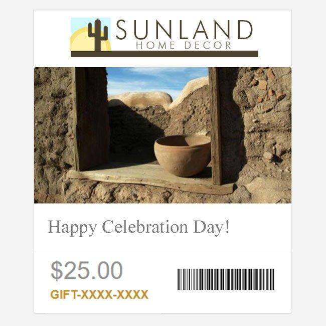 Sunland Home Decor Egift Card