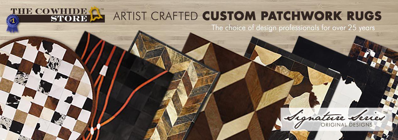 Designer Custom Cowhide Patchwork Rugs