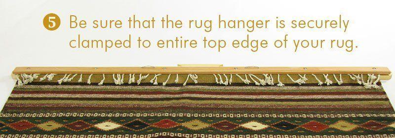 Hang your rug - Step 5